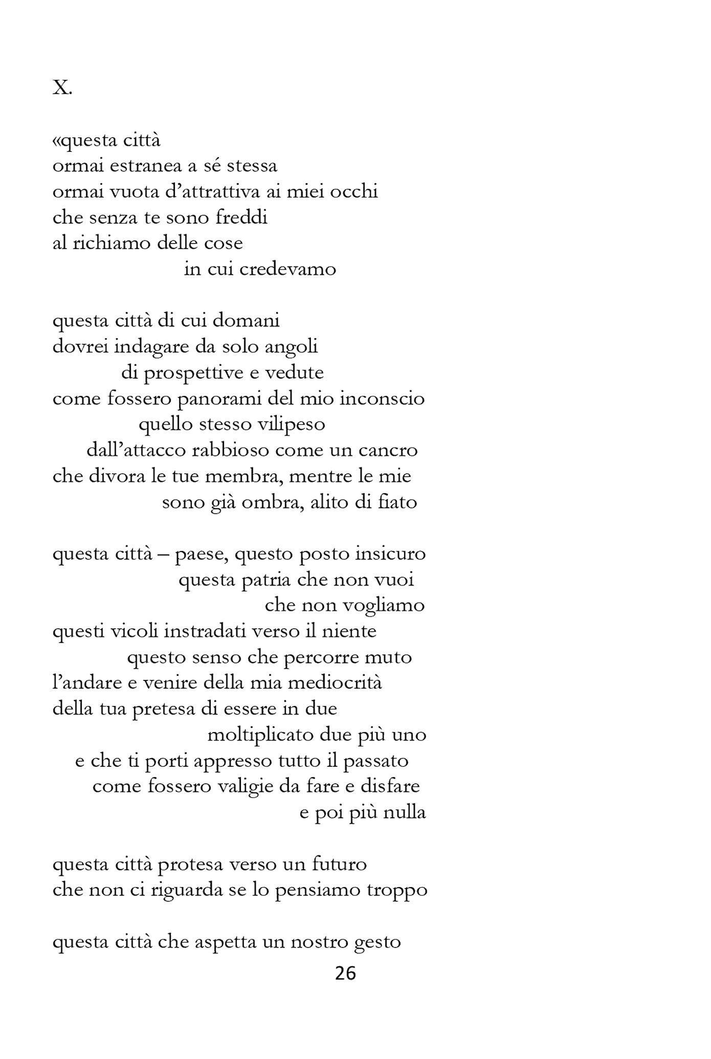 Caporossi Taccuino dell'Urlo X